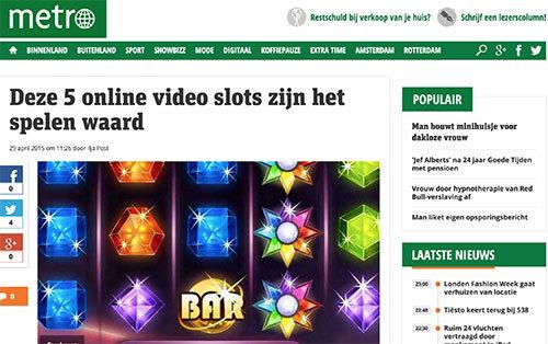 metronieuws top 5 online casinospellen