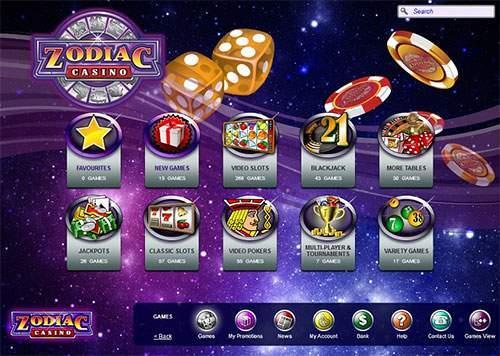 Zodiac Casino 1 euro storten en met 21 euro spelen