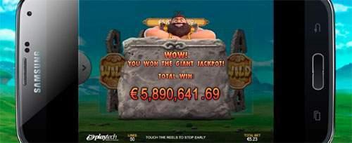jackpot valt bij mobiel casino gala bingo